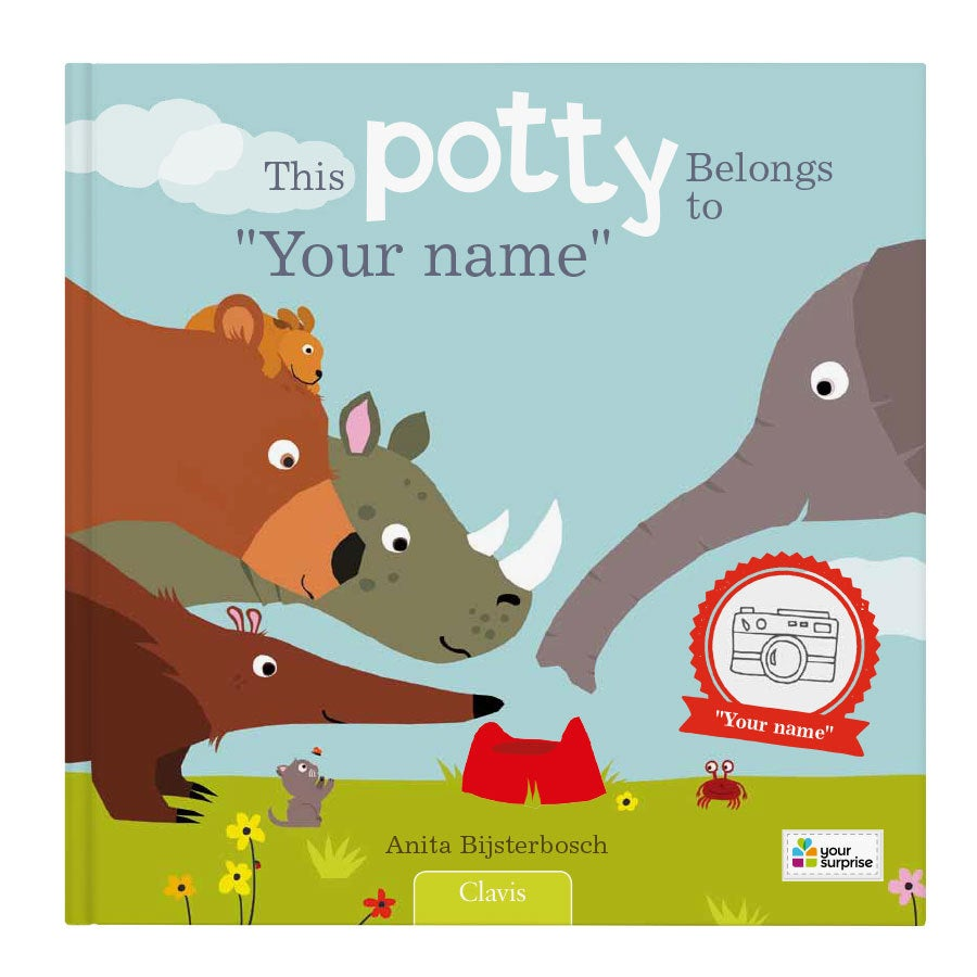 Book with name - This potty belongs to.. (softcover)