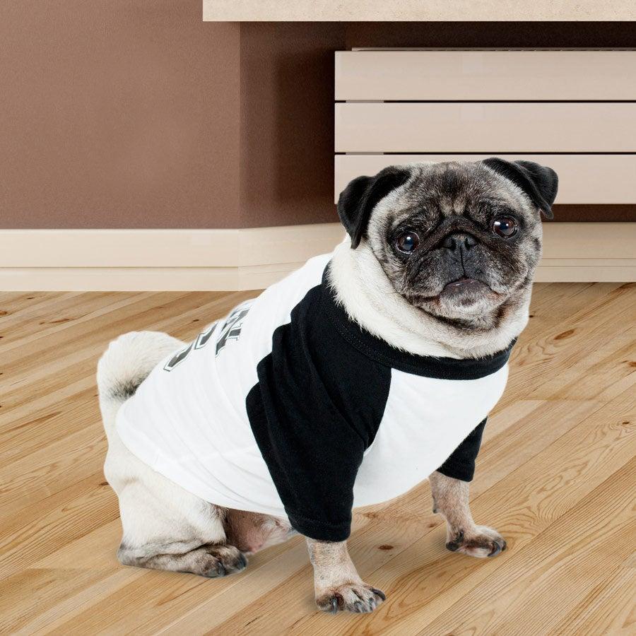 T-shirt  pour chien - Bleu/Blanc - S