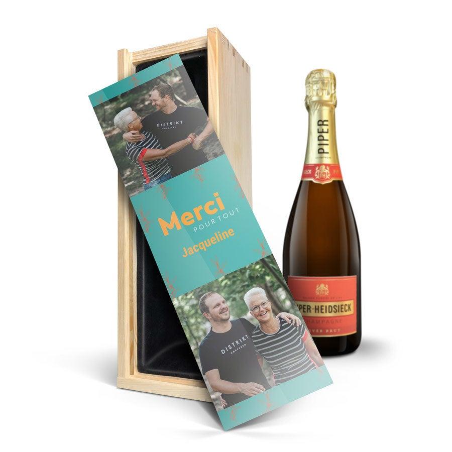 Coffret Champagne - Piper Heidsieck Brut (750 ml) - Couvercle imprimé