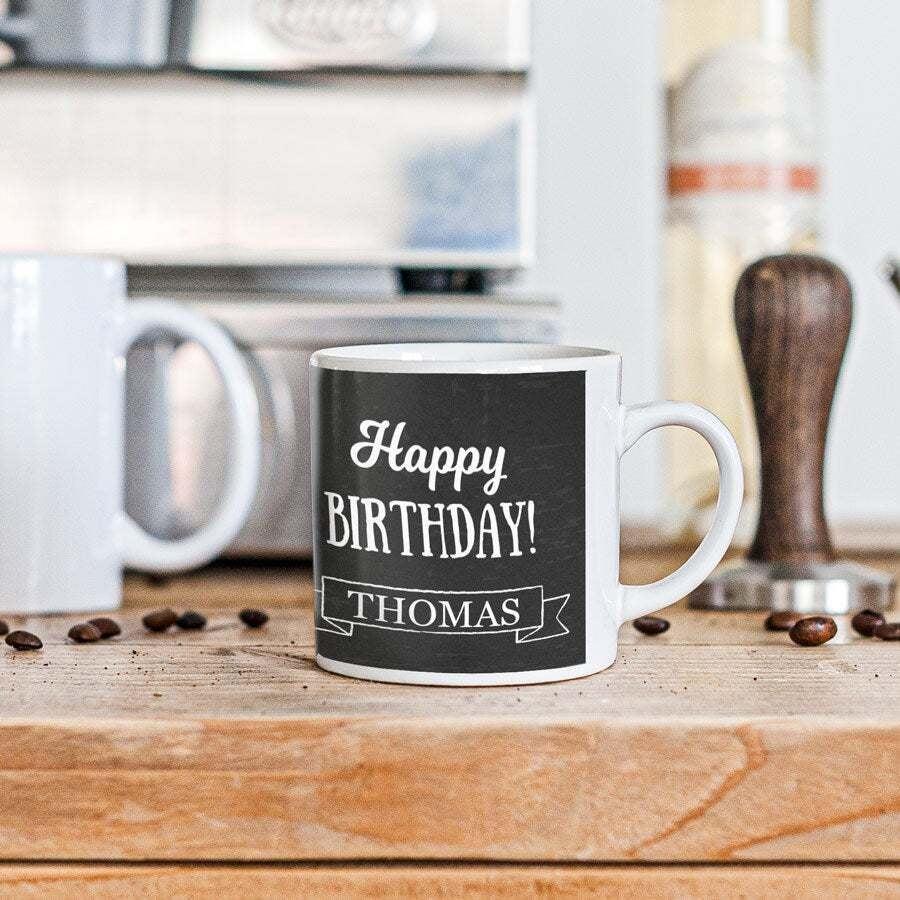 Taza pequeña para café  con foto -  Tamaño S