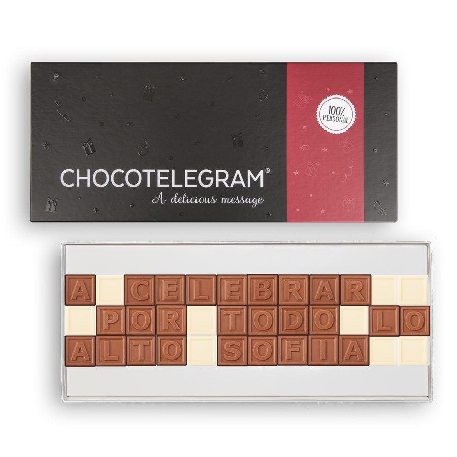 Telegrama de chocolate - 36 caracteres