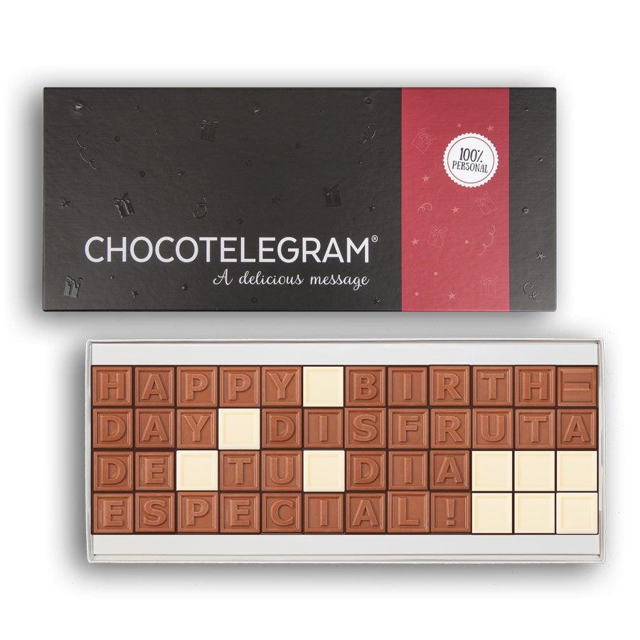 Telegrama de chocolate: 48 caracteres