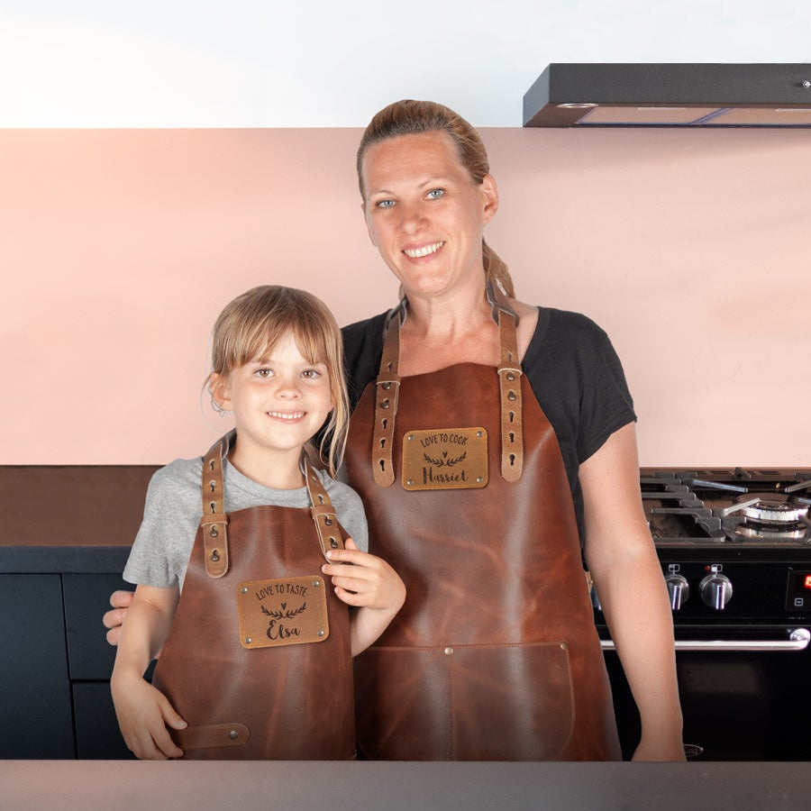 Leather Apron Set - Adults & Children's