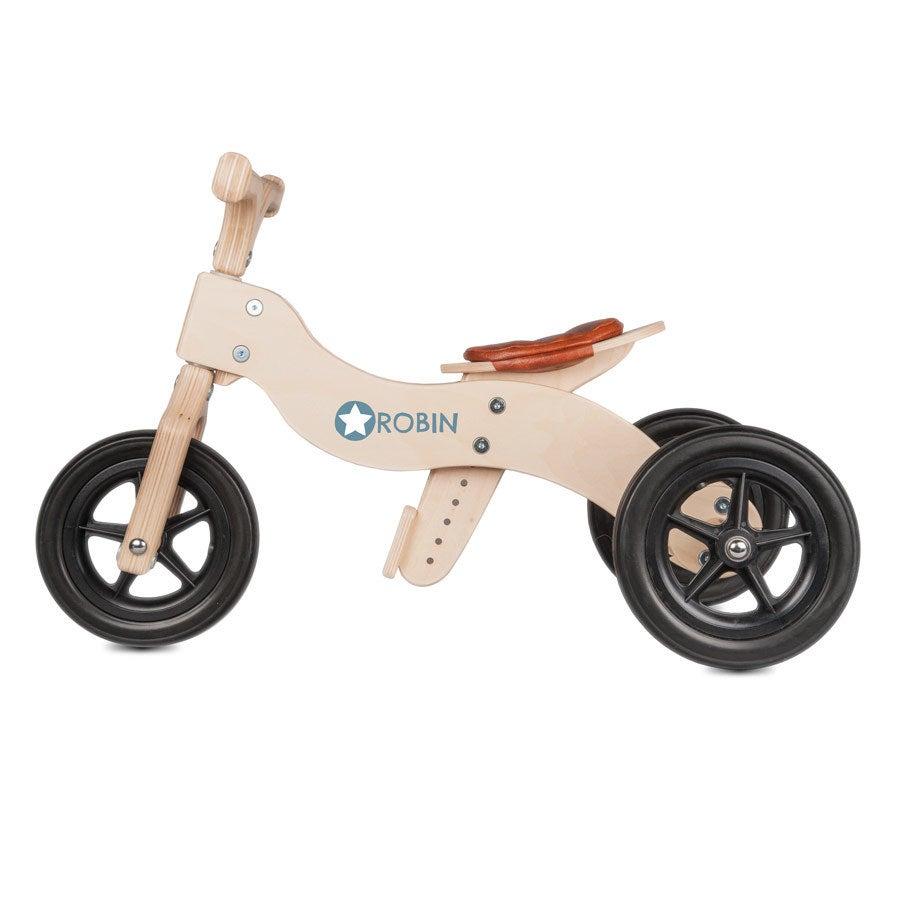 Tricycle en bois avec prénom