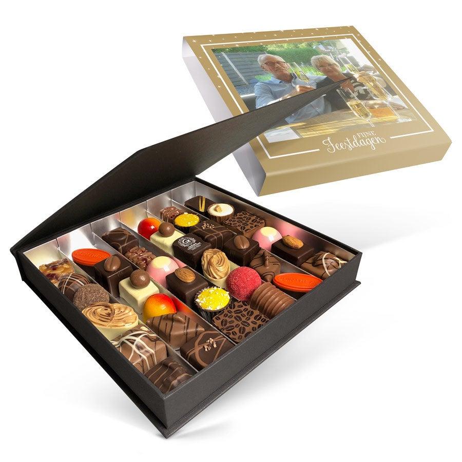 Luxe bonbon giftbox bedrukken - Kerst (36 stuks)