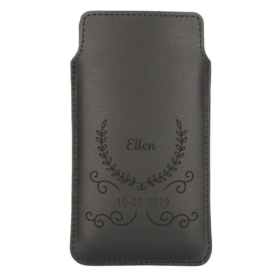 Leather phone case - S - Black