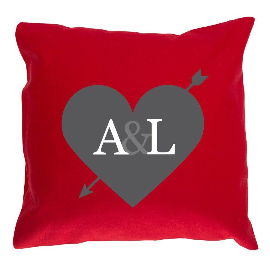 Pieni tyyny omalla kuvalla - ilman täytettä - punainen