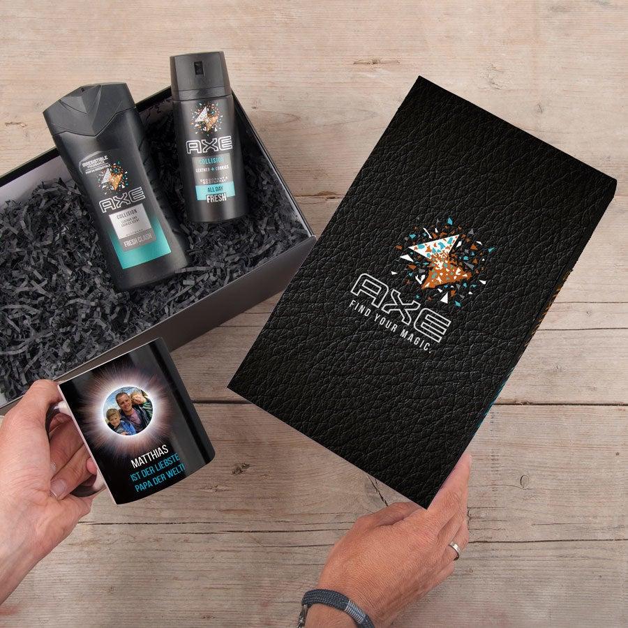 Individuellküchenzubehör - Axe Geschenkset Zaubertasse Leather Cookies - Onlineshop YourSurprise