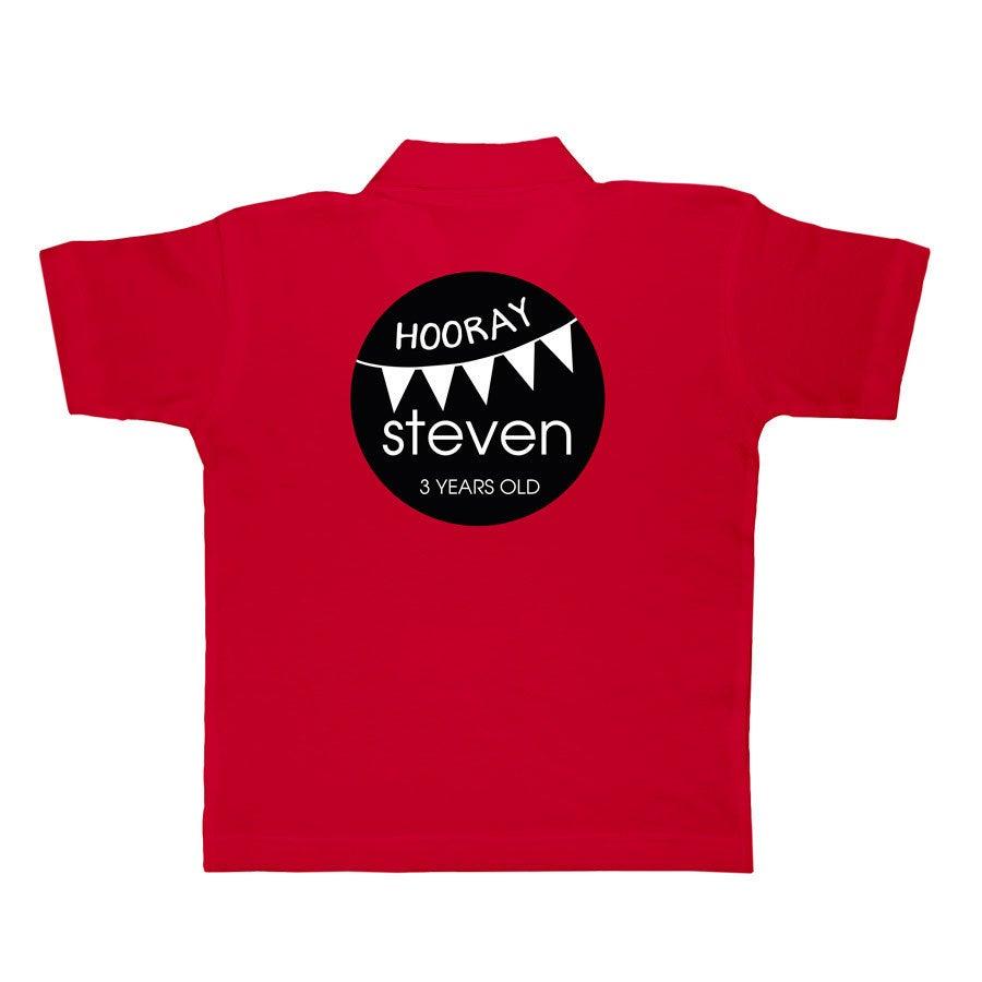 Polo skjorte - Barn  - Red - 4 år