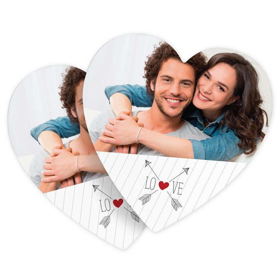 Lasinaluset- sydän (6 kpl)