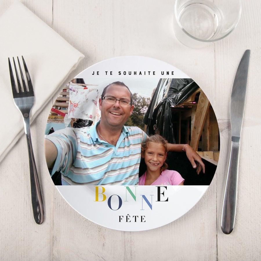Assiette Fête des Pères