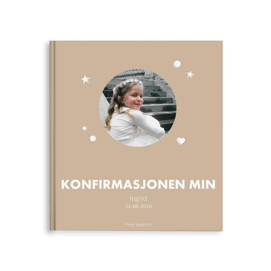 Fotoalbum - Min konfirmasjon - M - Stiv perm - 40 sider
