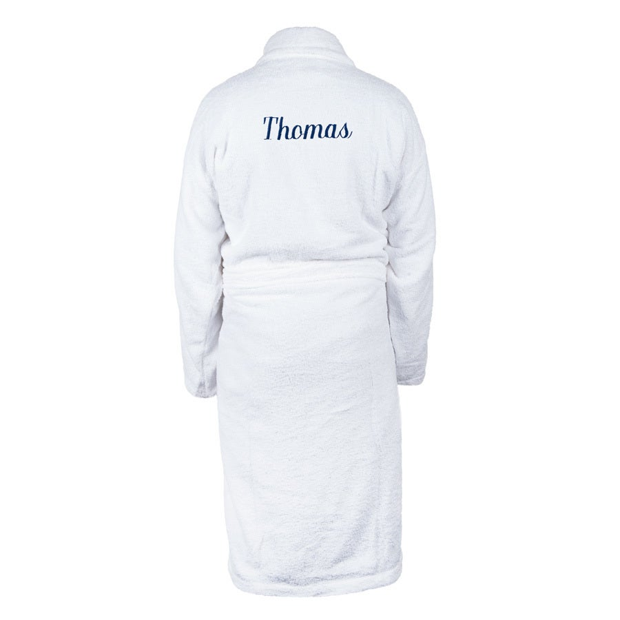 Bathrobe for Men - White L/XL