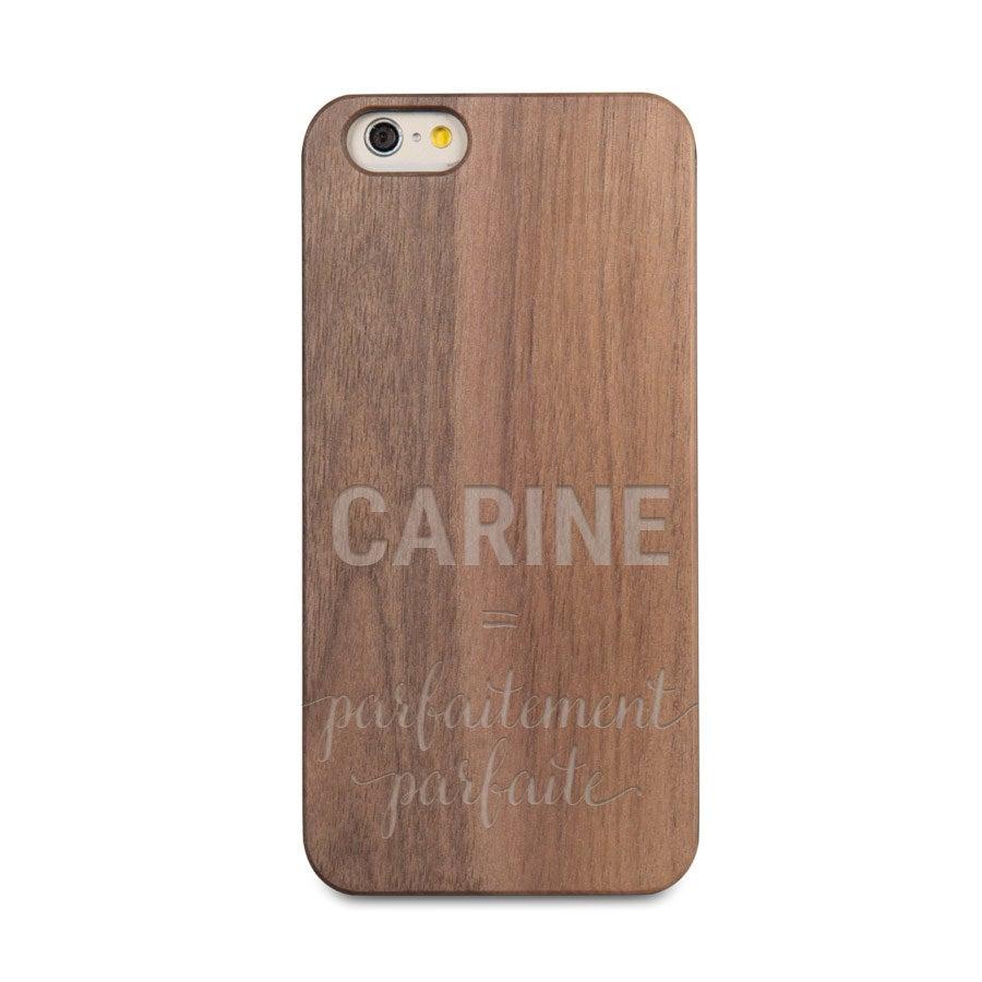 Coque en bois iPhone 6s - Gravée