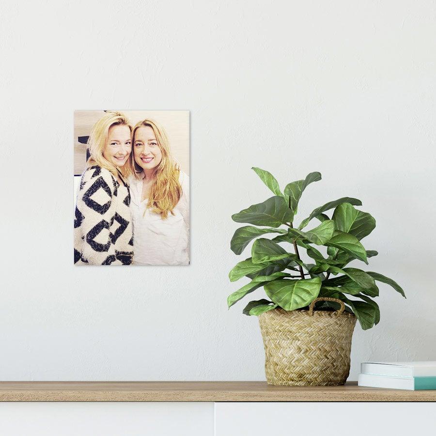 ChromaLuxe Alumiininen valokuvapaneeli - Harjattu (15x20cm)