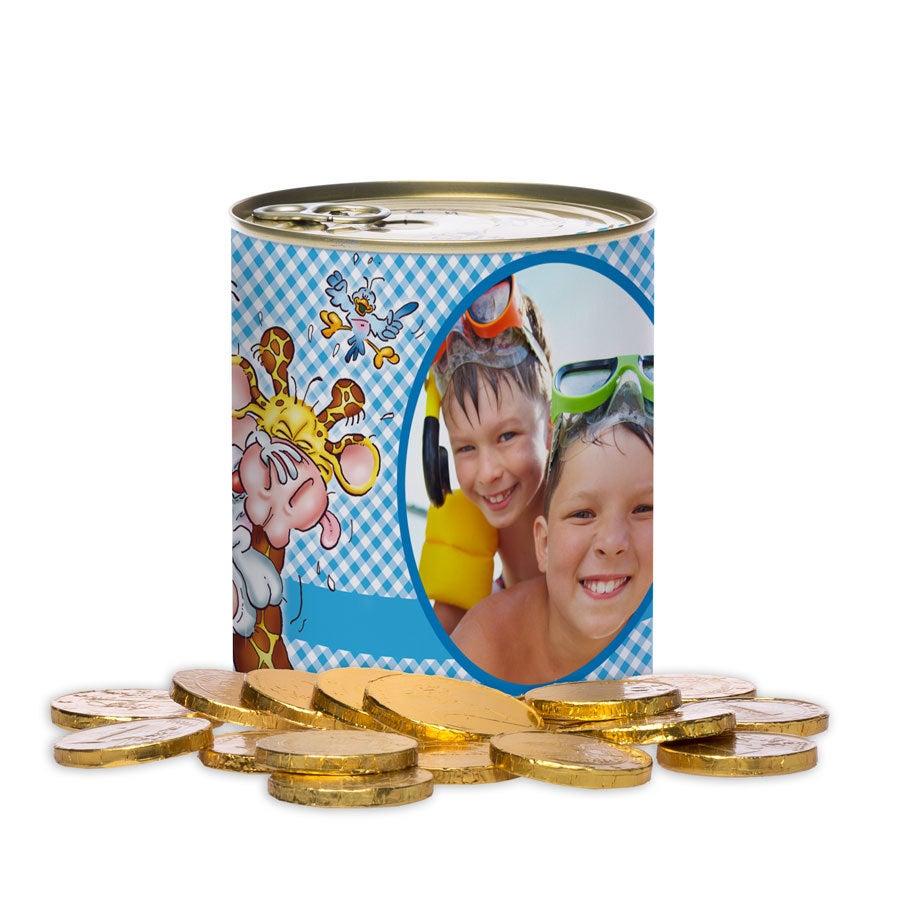 Doodles lata de doces - moedas de Chocolate