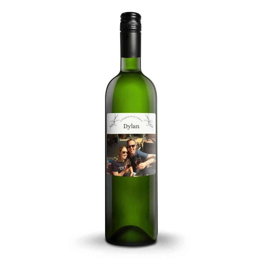 Wine with printed label - Belvy - white
