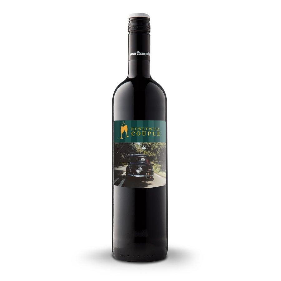 Wijn met bedrukt etiket - Maison de la Surprise - Merlot