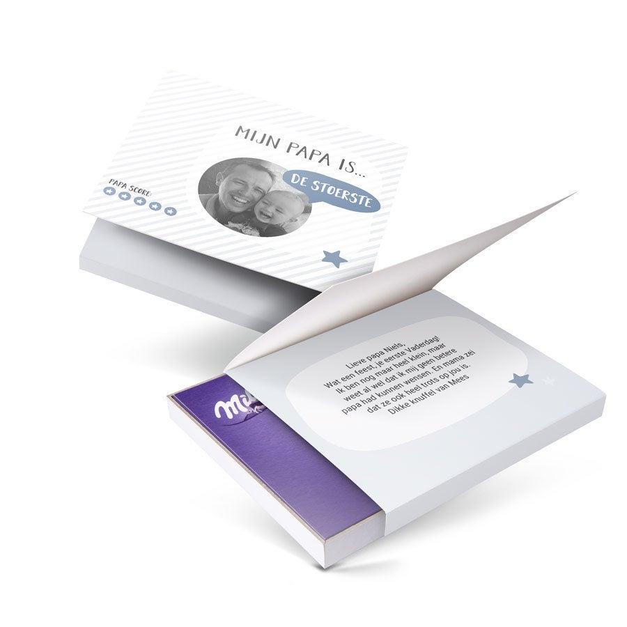Milka giftbox bedrukken - Vaderdag - 110 gram