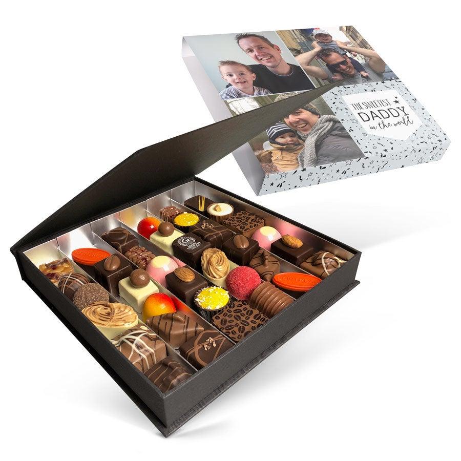 Luksus bonbon gaveeske - Farsdag - sett med 36