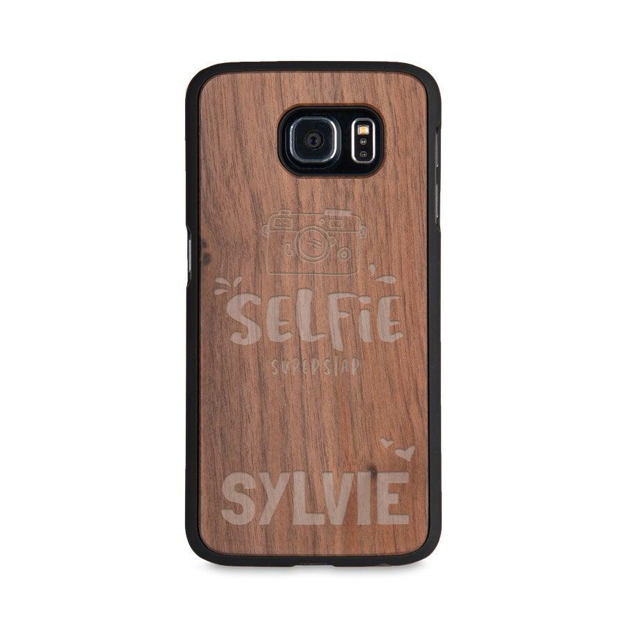 Coque en bois Samsung Galaxy S6 - Gravée