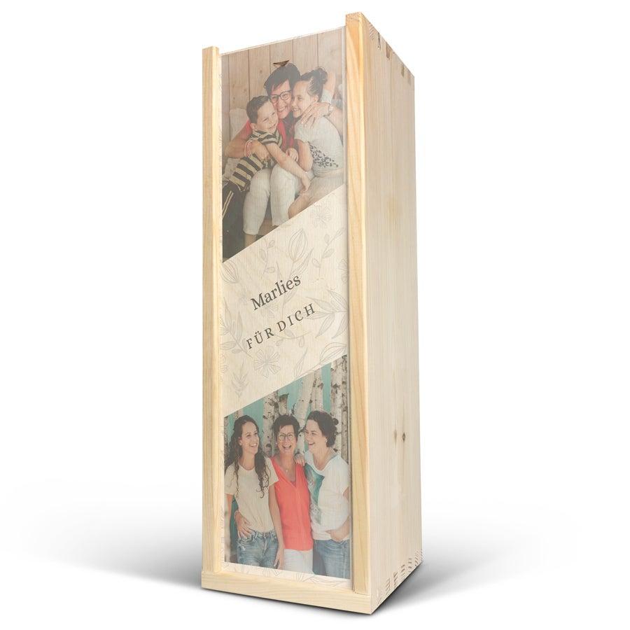 Casseta da vino - Stampata sul legno - Magnum