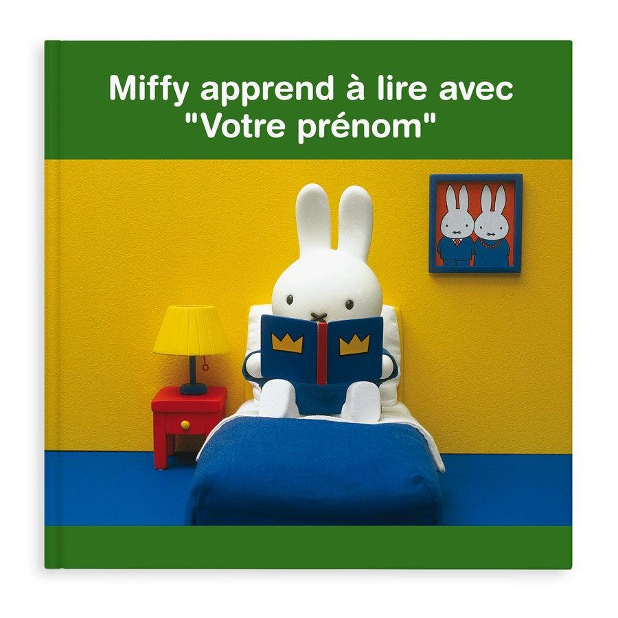 Livre personnalisé - Miffy apprend à lire (couverture rigide)