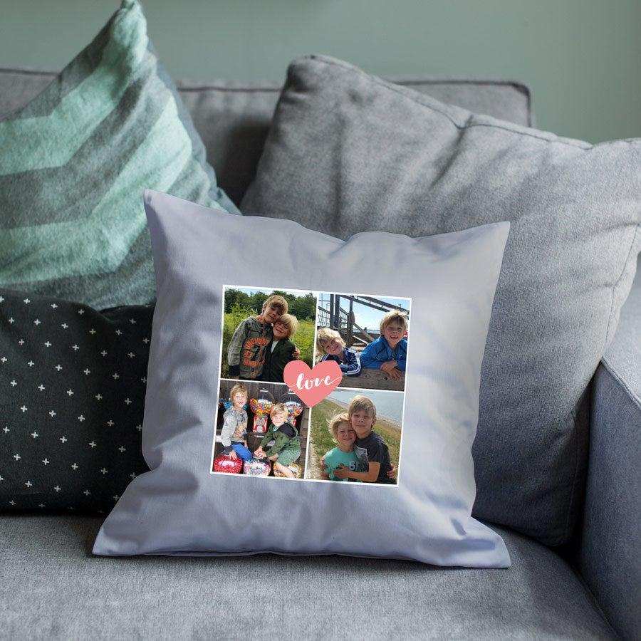 Mała poduszka dla mamy - jasnoszara