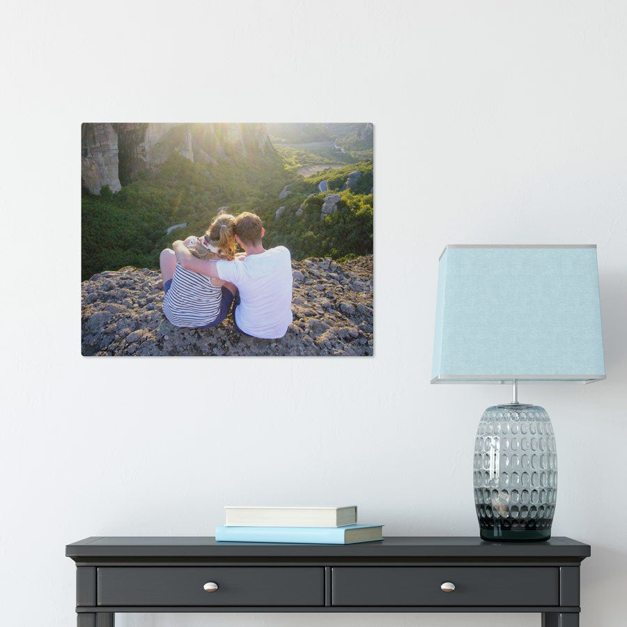 Foto op aluminium - Wit (ChromaLuxe) - 50 x 40