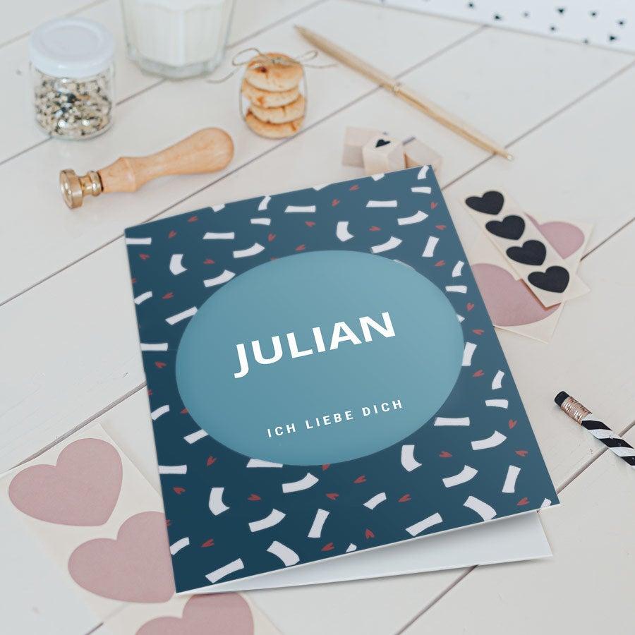 - Valentinstag Karte XL Vertikal - Onlineshop YourSurprise