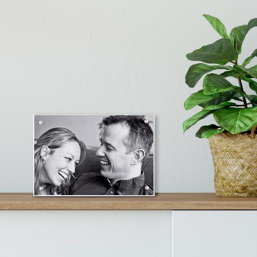 Bloco de fotos em acrílico - 15x10cm