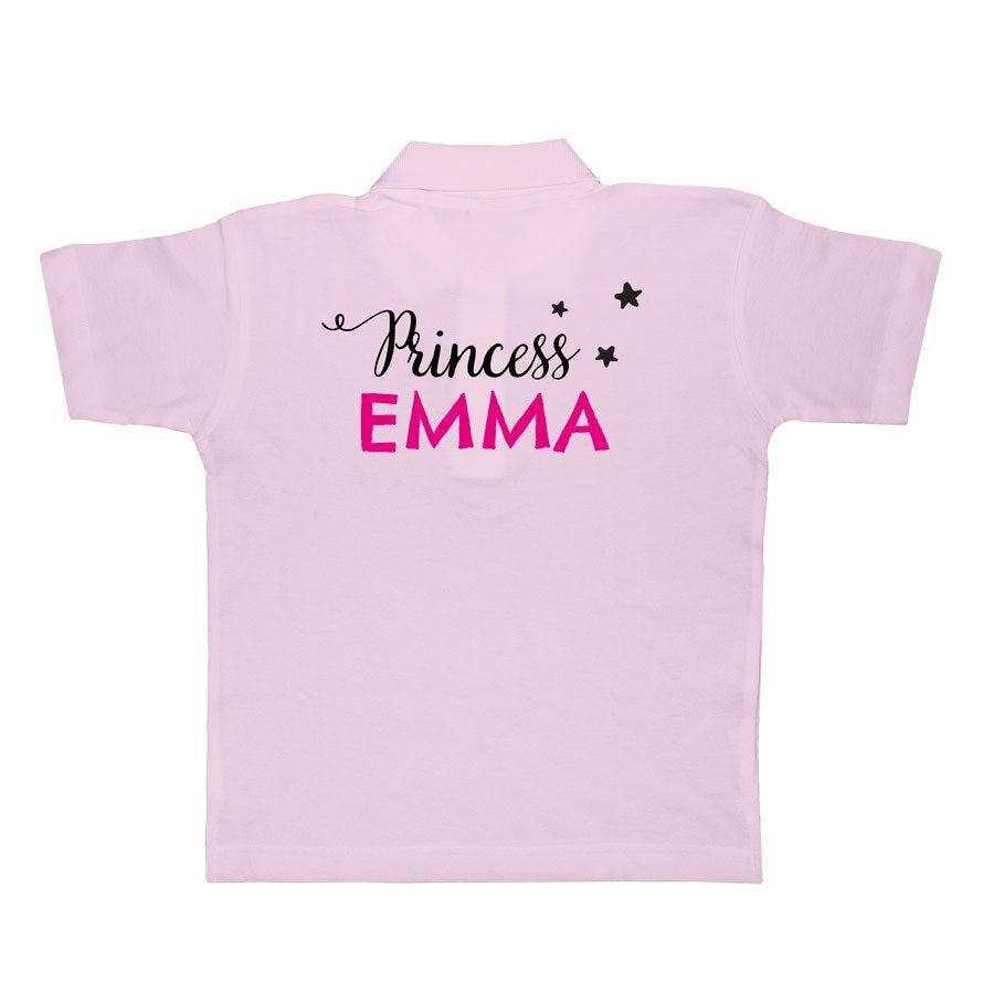 Polo skjorte - Barn - Pink - 4 år