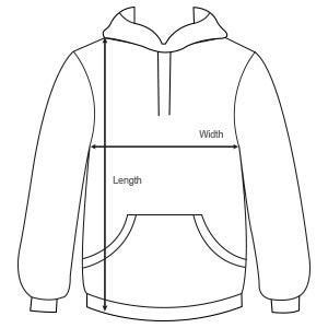 Sizes mens hoodies