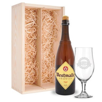 Beer gift set with glasses