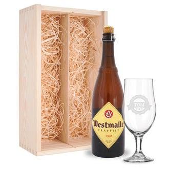 Presente de cerveja com óculos