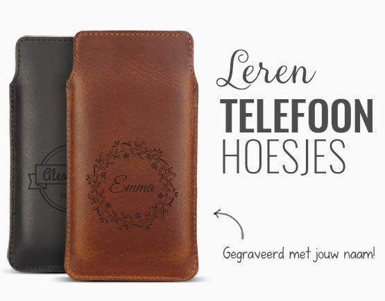 Leren telefoonhoes