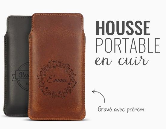 Housse portable cuir