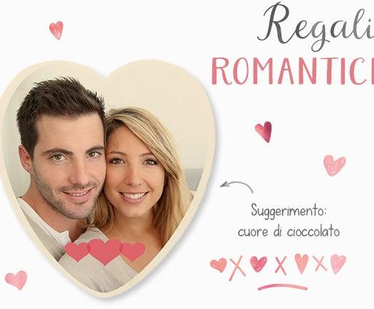 Cuore di Cioccolato con la foto del tuo partner