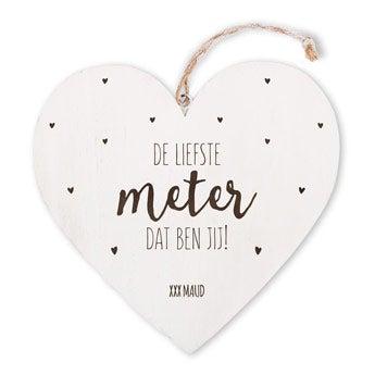 Houten hart - Meter
