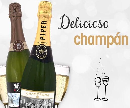 champán con foto