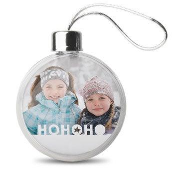 Vianočné gule - transparentné