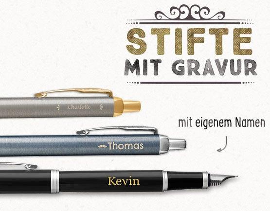 Stifte mit Gravur