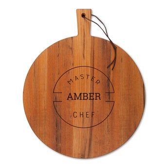 engraved wooden serving board