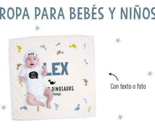 Ropa personalizada bebé y niños