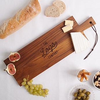 Dřevěné servírovací talíře