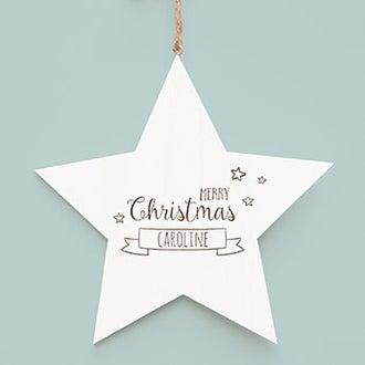 Drevená vianočná hviezda