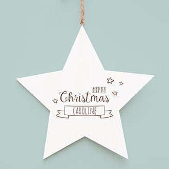 Estrela de Natal de madeira
