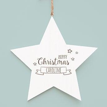 Fából készült karácsonyi csillag