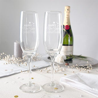 Champagneglazen graveren