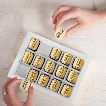 Chocolates com logótipo